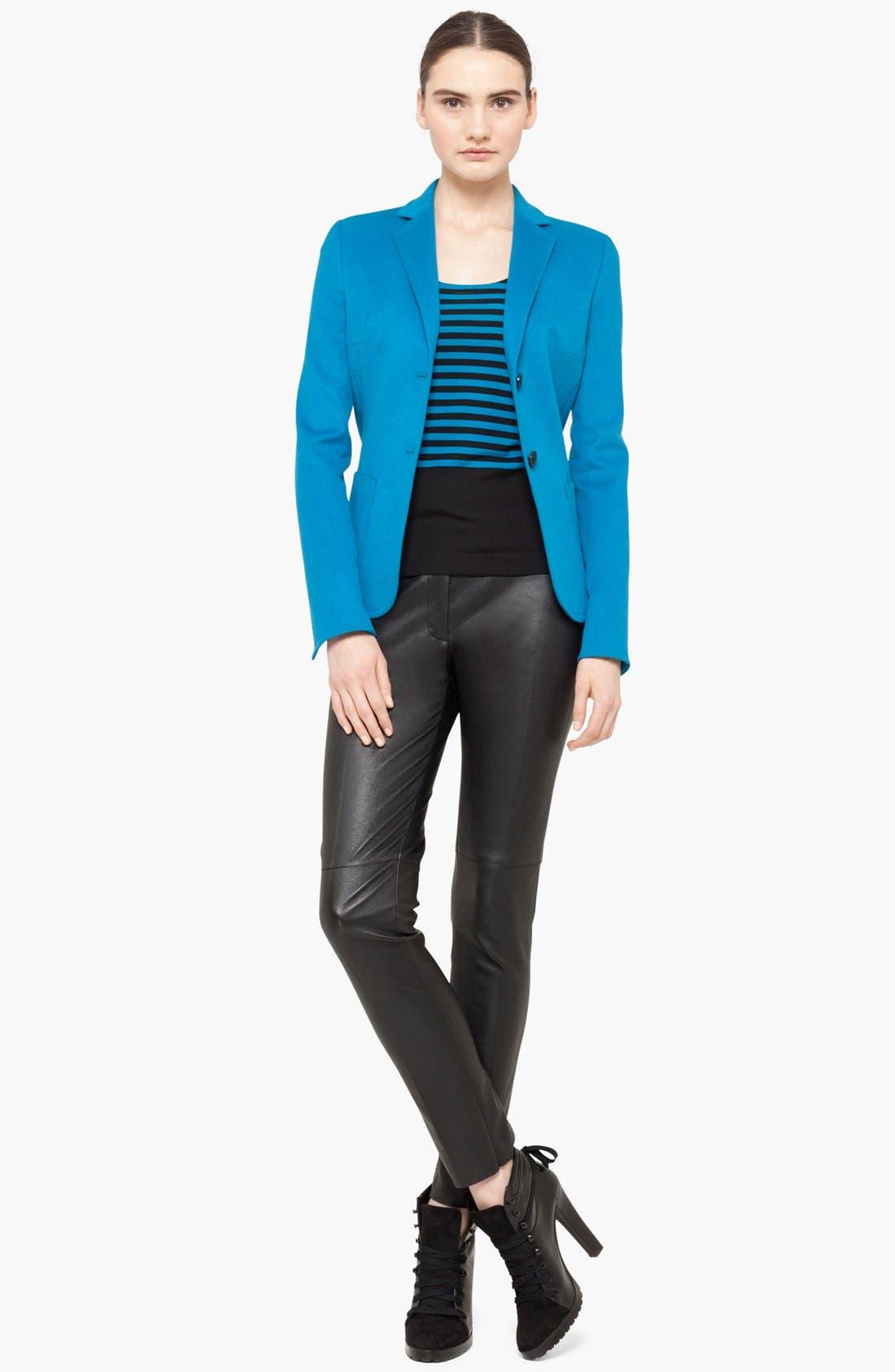 Alternate Image 3  - Akris punto Wool Blend Two Button Blazer