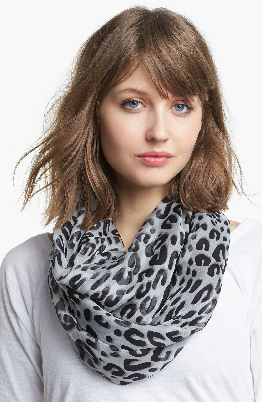 Main Image - Tarnish Animal Print/Solid Reversible Infinity Scarf