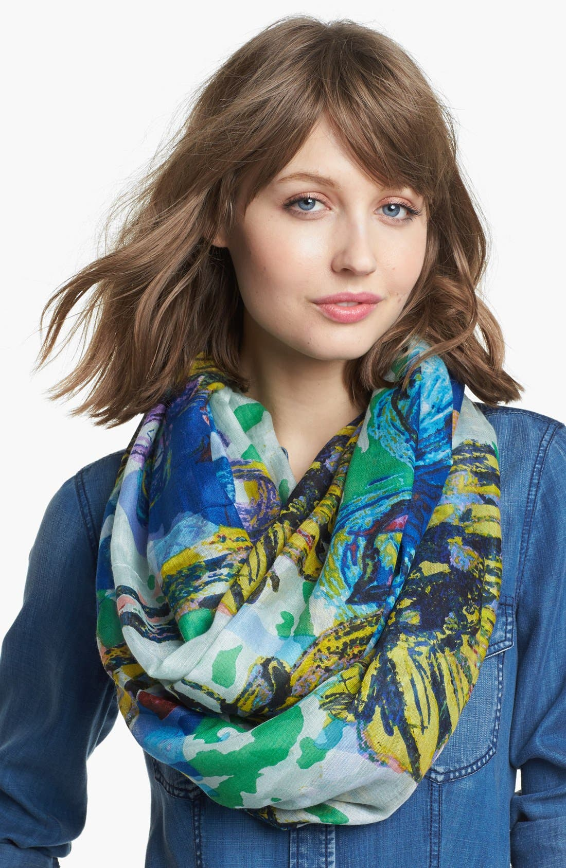 Alternate Image 1 Selected - Lulla Collection by Bindya 'Spring Lotus' Infinity Scarf