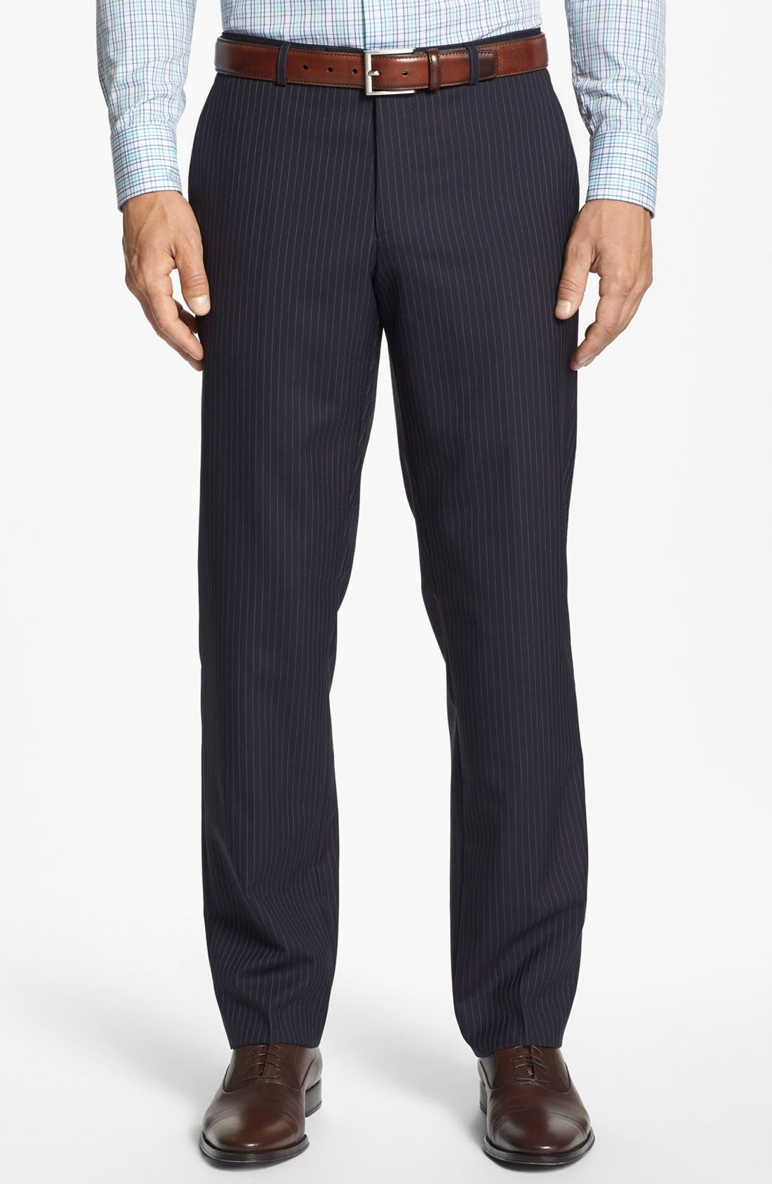 Alternate Image 5  - BOSS Black 'James/Sharp' Trim Fit Stripe Wool Suit