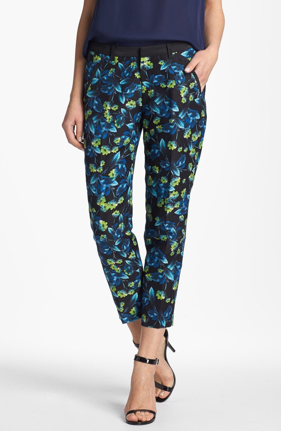 Alternate Image 1 Selected - Joie 'Guioma' Linen & Silk Crop Pants