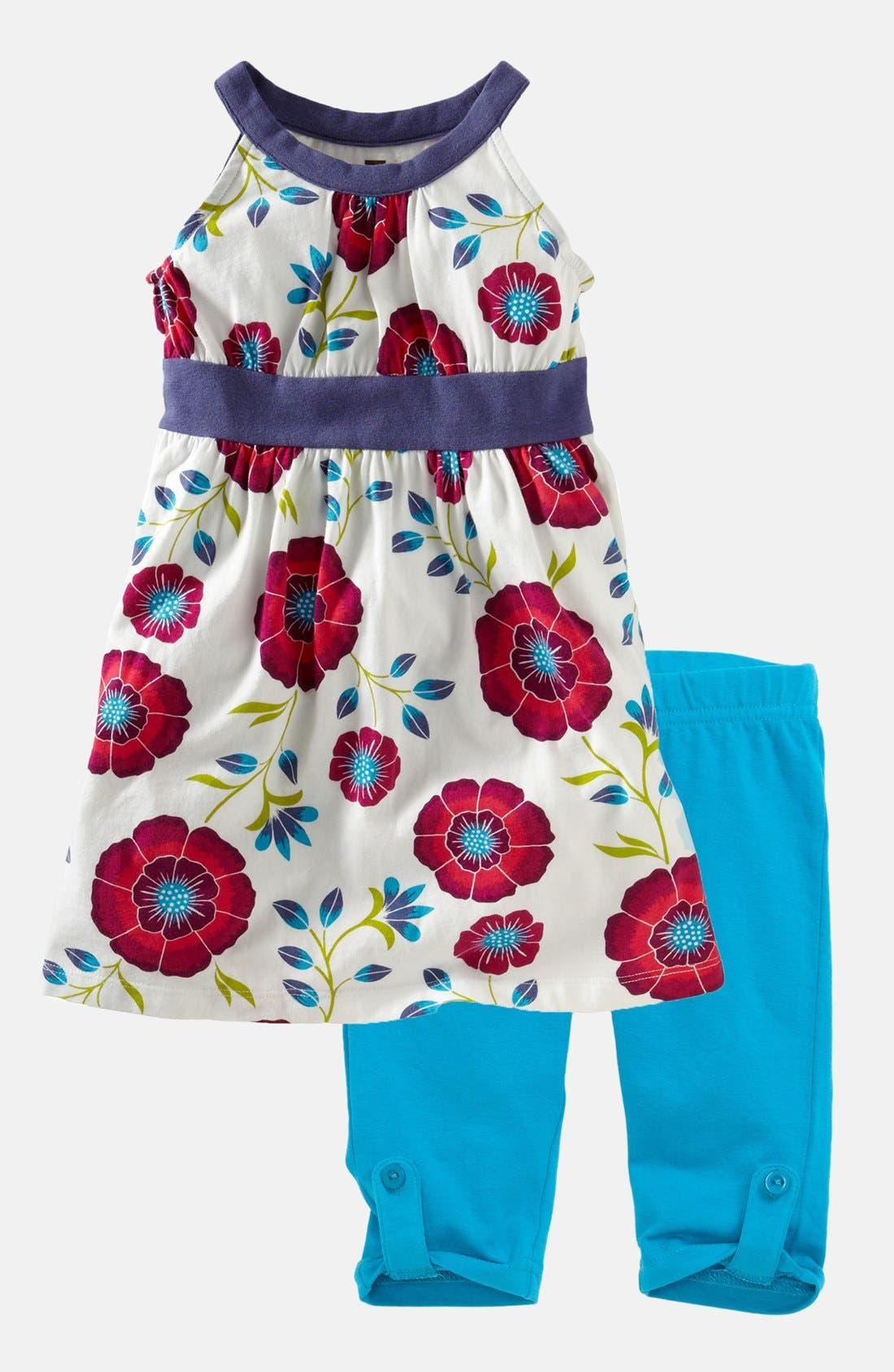 Alternate Image 1 Selected - Tea Collection Halter Dress & Leggings