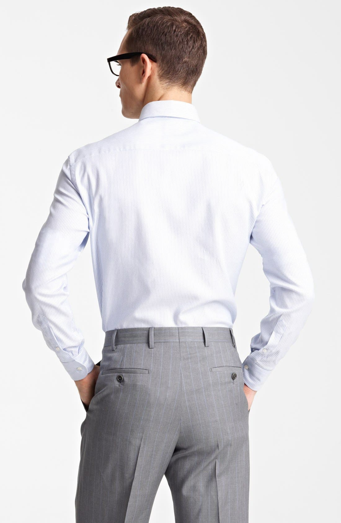 Alternate Image 2  - Armani Collezioni Microstripe Dress Shirt