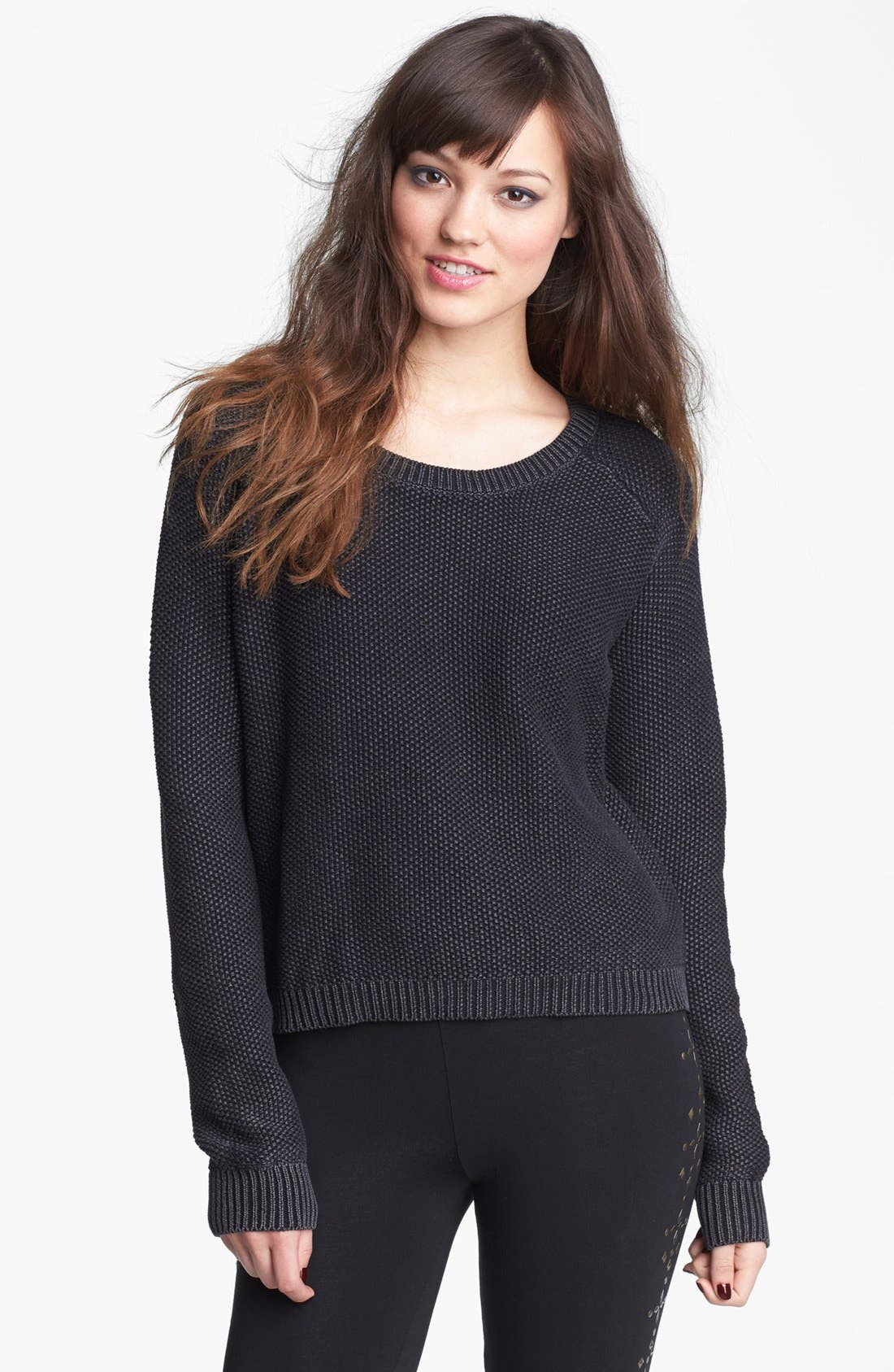 Alternate Image 1 Selected - Love By Design Scoop Neck Sweater (Juniors)