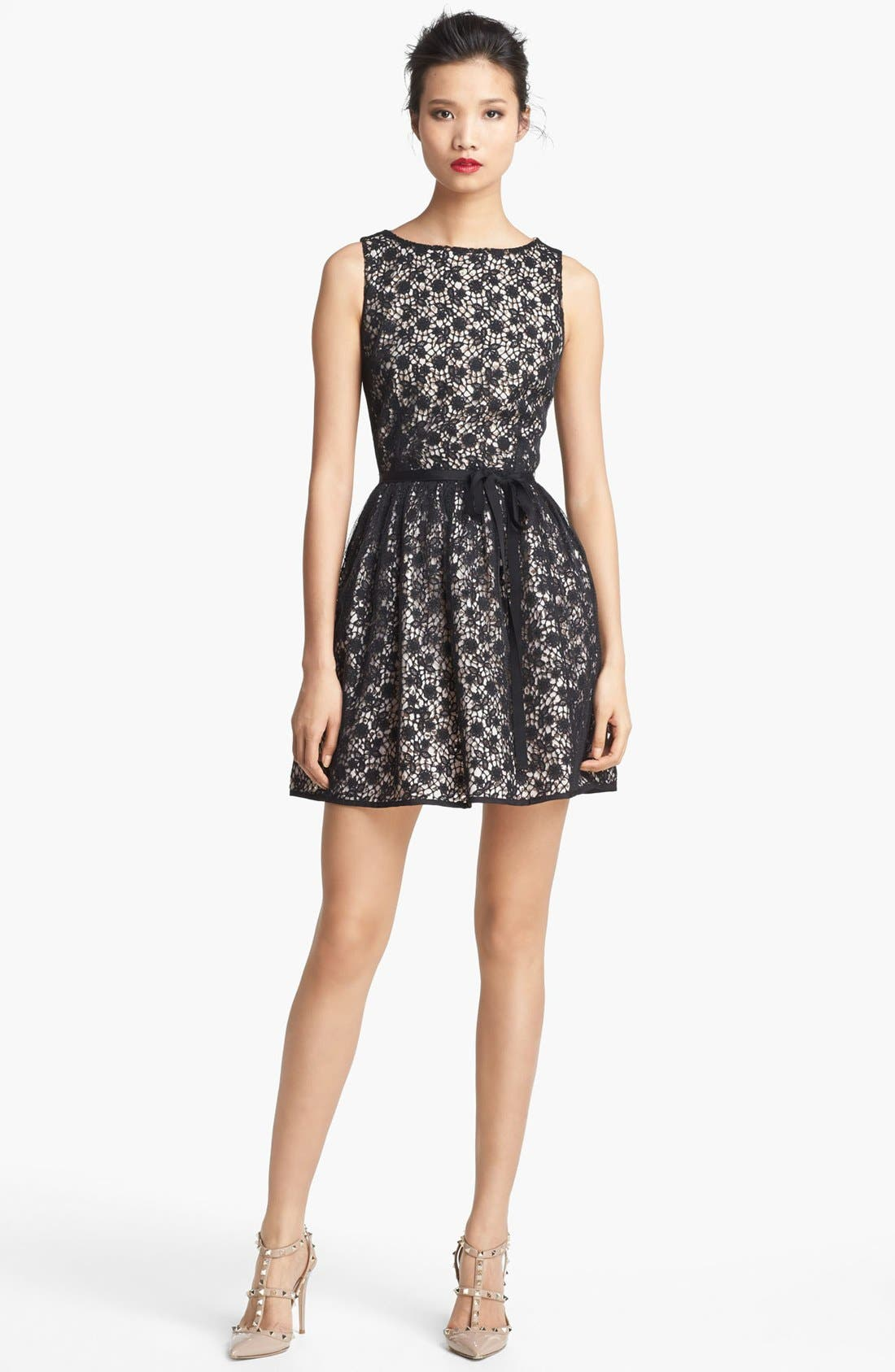 Alternate Image 1 Selected - RED Valentino Macramé Lace Dress