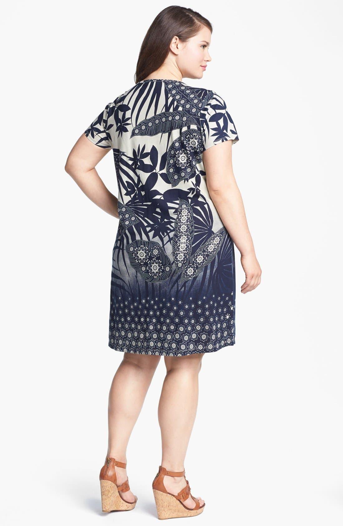 Alternate Image 2  - Lucky Brand 'Chantal' Print Cotton Dress (Plus Size)