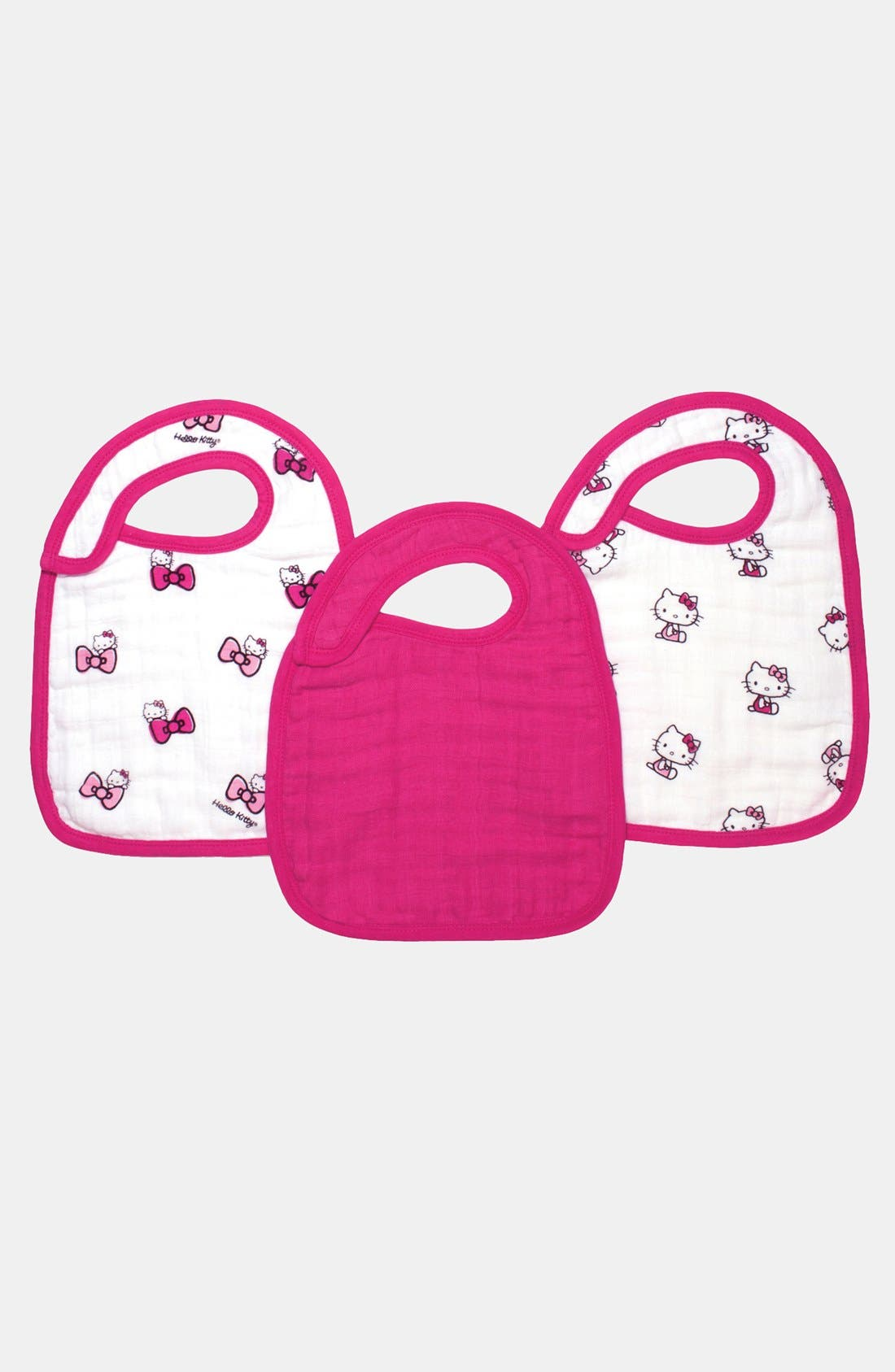 Alternate Image 1 Selected - aden + anais Hello Kitty® Snap Bibs (3-pack)