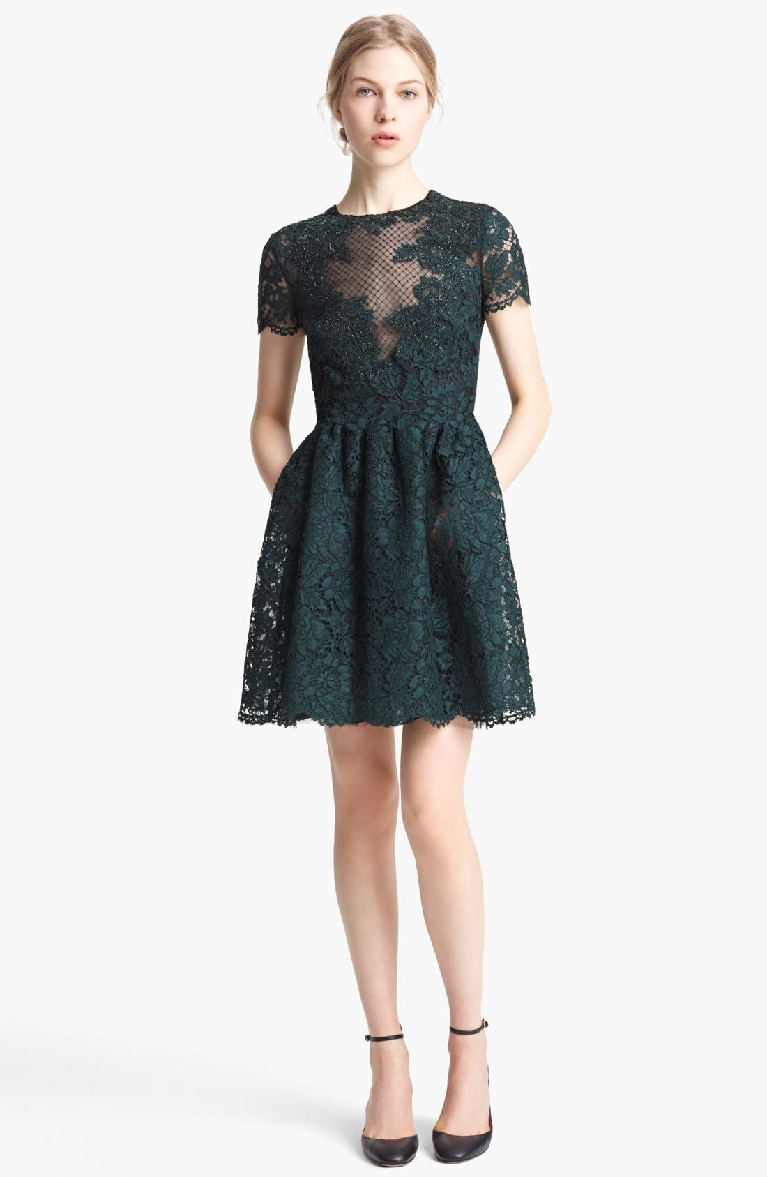 Main Image - Valentino Embroidered Lace Dress