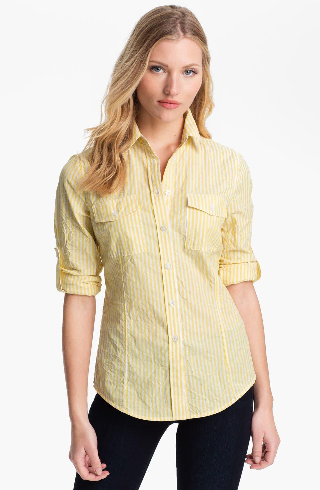 Alternate Image 1 Selected - MICHAEL Michael Kors Stripe Shirt (Petite)