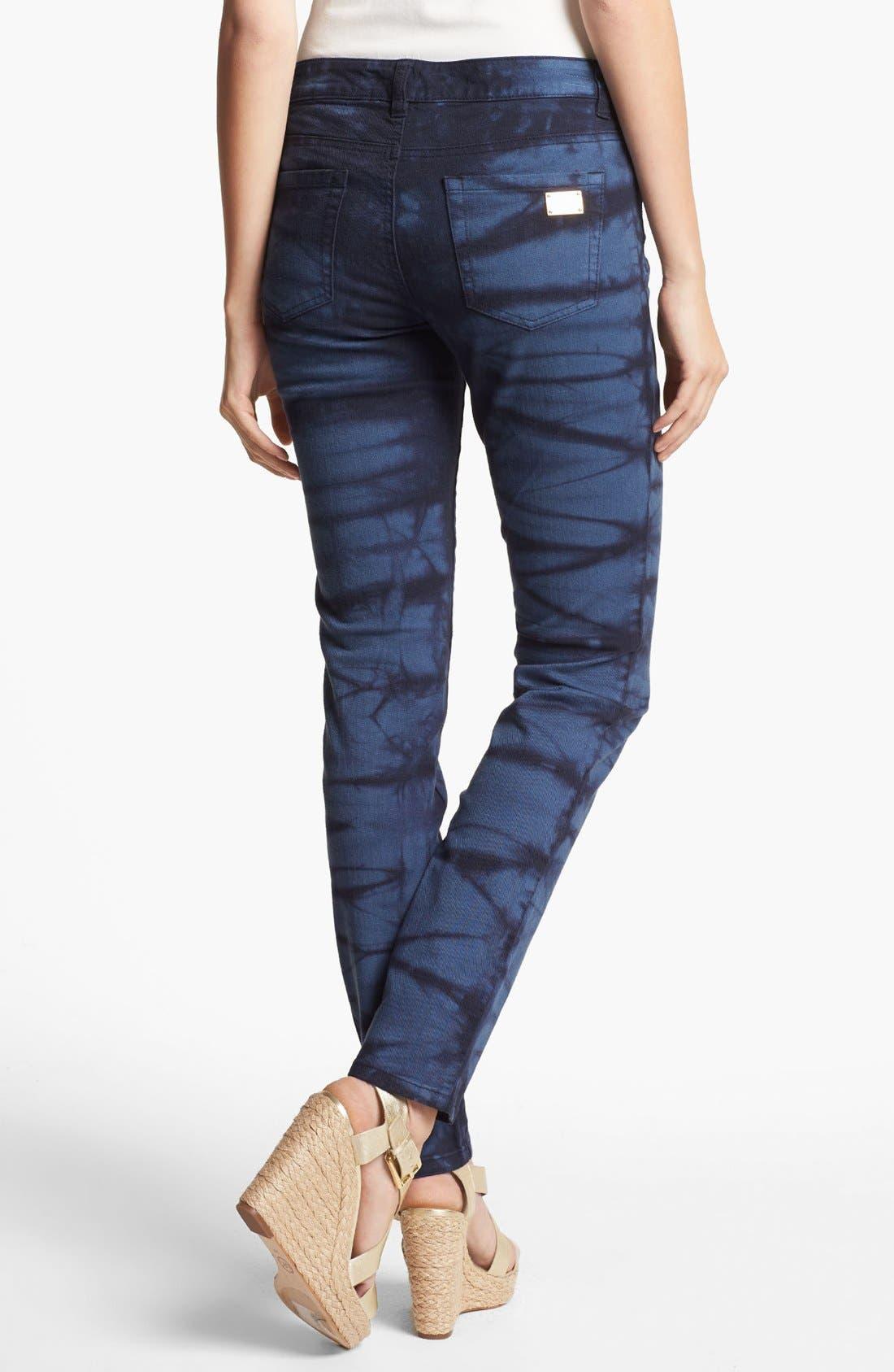 Alternate Image 1 Selected - MICHAEL Michael Kors Tie Dye Print Jeans (Petite)