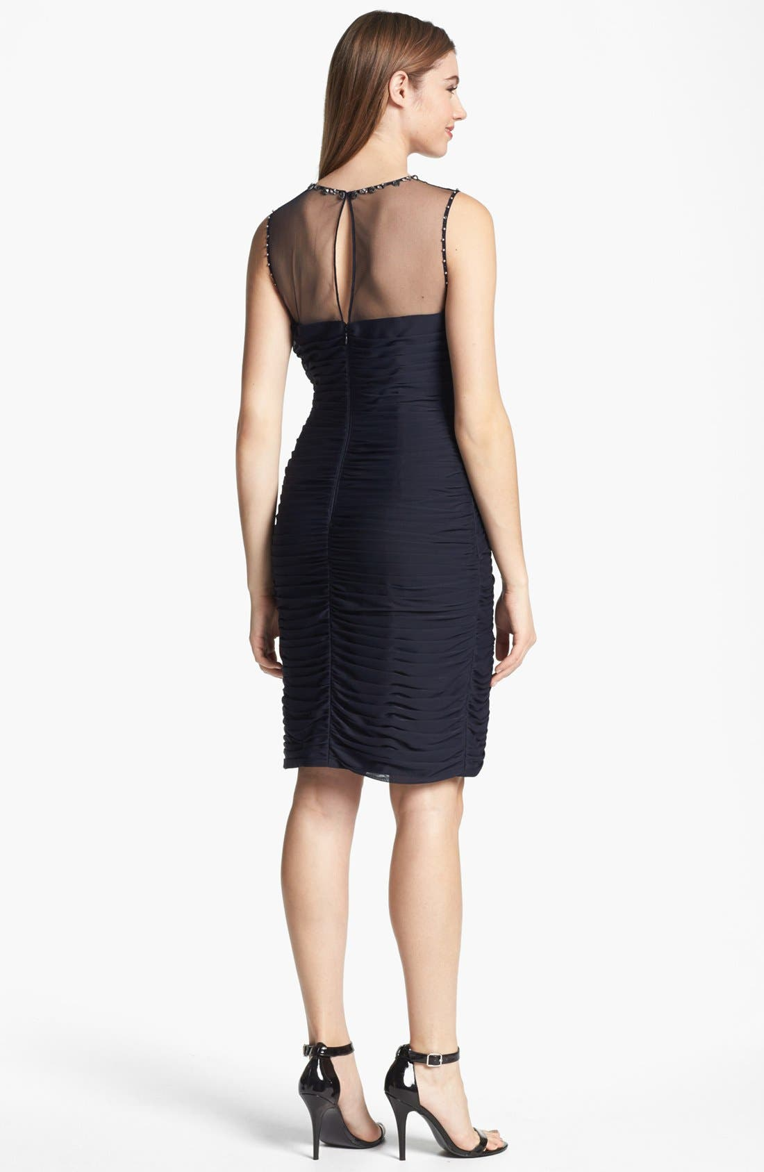 Alternate Image 2  - Adrianna Papell Embellished Tiered Pleat Dress
