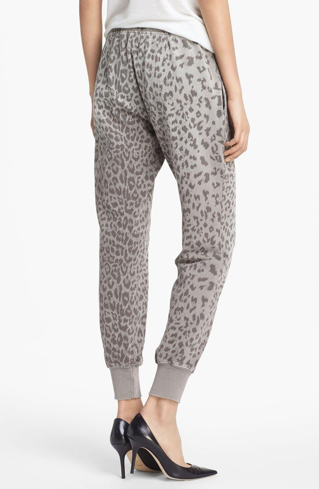 Alternate Image 2  - Current/Elliott Animal Print Sweatpants