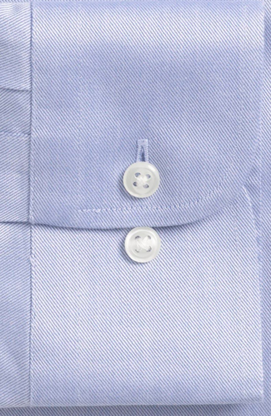 Alternate Image 4  - Nordstrom Men's Shop Smartcare™ Trim Fit Twill Dress Shirt