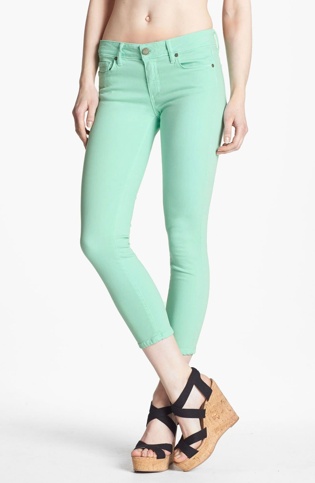 Main Image - Paige Denim 'Kylie' Crop Jeans (Glass)