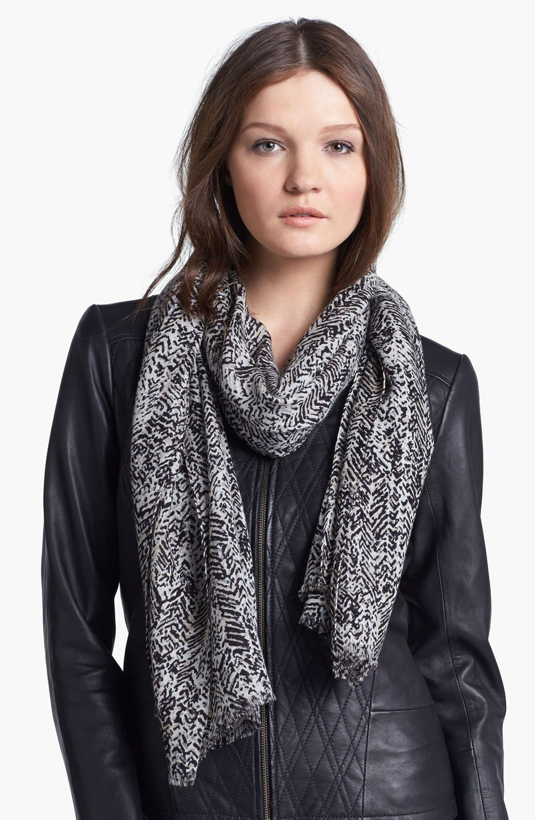 Alternate Image 1 Selected - MICHAEL Michael Kors Herringbone Print Wool Scarf