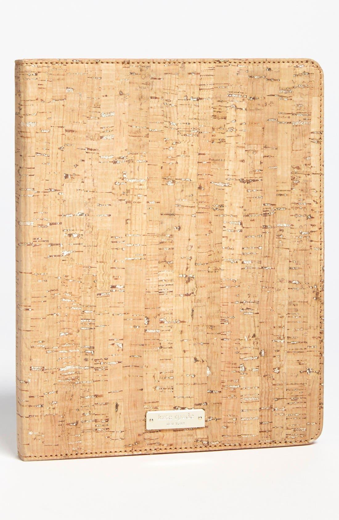 Main Image - kate spade new york 'summer cork' iPad 2 & 3 folio