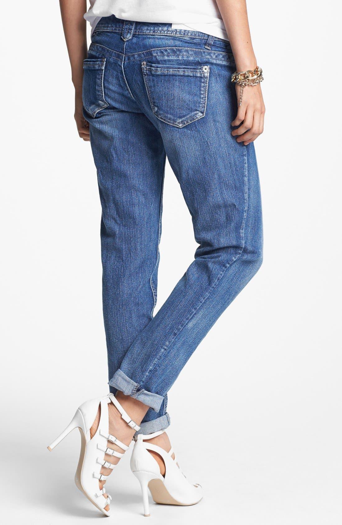 Alternate Image 2  - Jolt 'Blasted' Boyfriend Jeans (Medium) (Juniors)