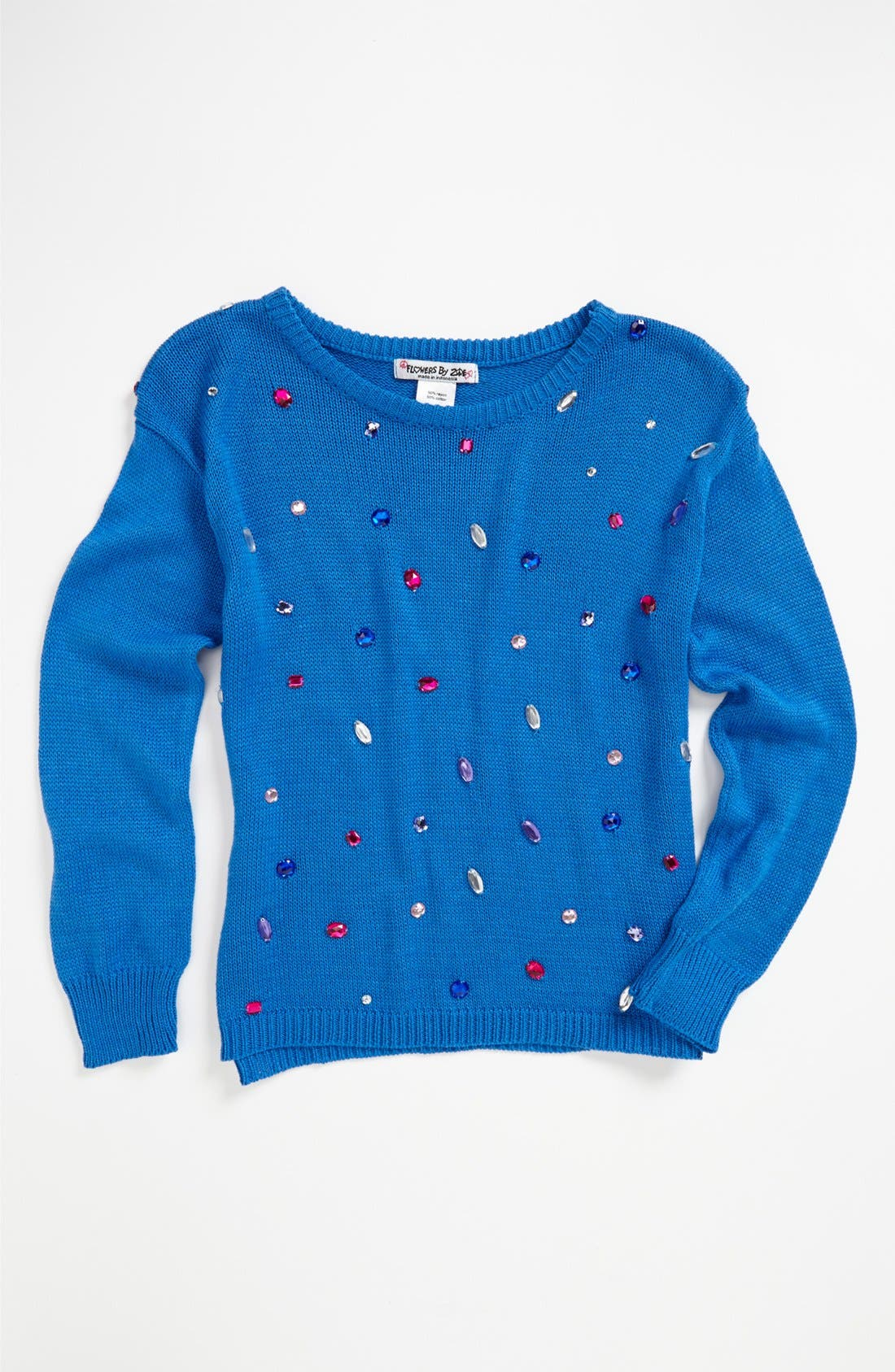 Main Image - Flowers by Zoe 'Gem' Sweater (Little Girls)
