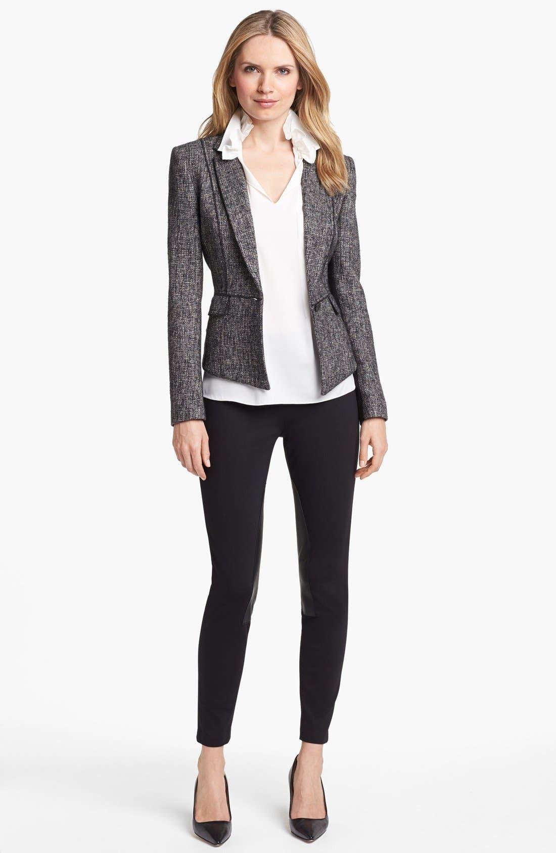 Alternate Image 3  - Elie Tahari 'Minka' Metallic Tweed Jacket