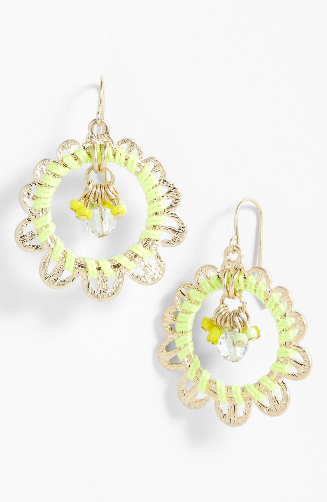 Alternate Image 1 Selected - Lydell NYC Mixed Media Drop Earrings