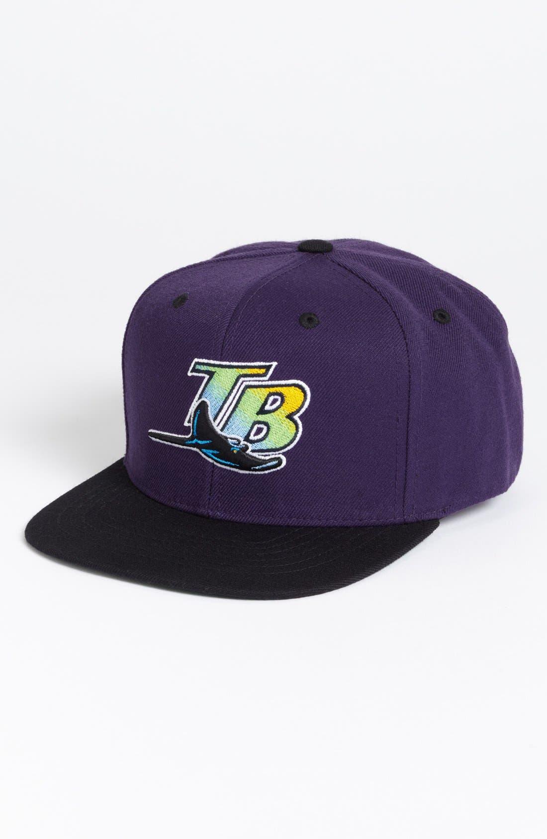 Alternate Image 1 Selected - American Needle 'Tampa Bay Rays - Back 2 Front' Snapback Baseball Cap