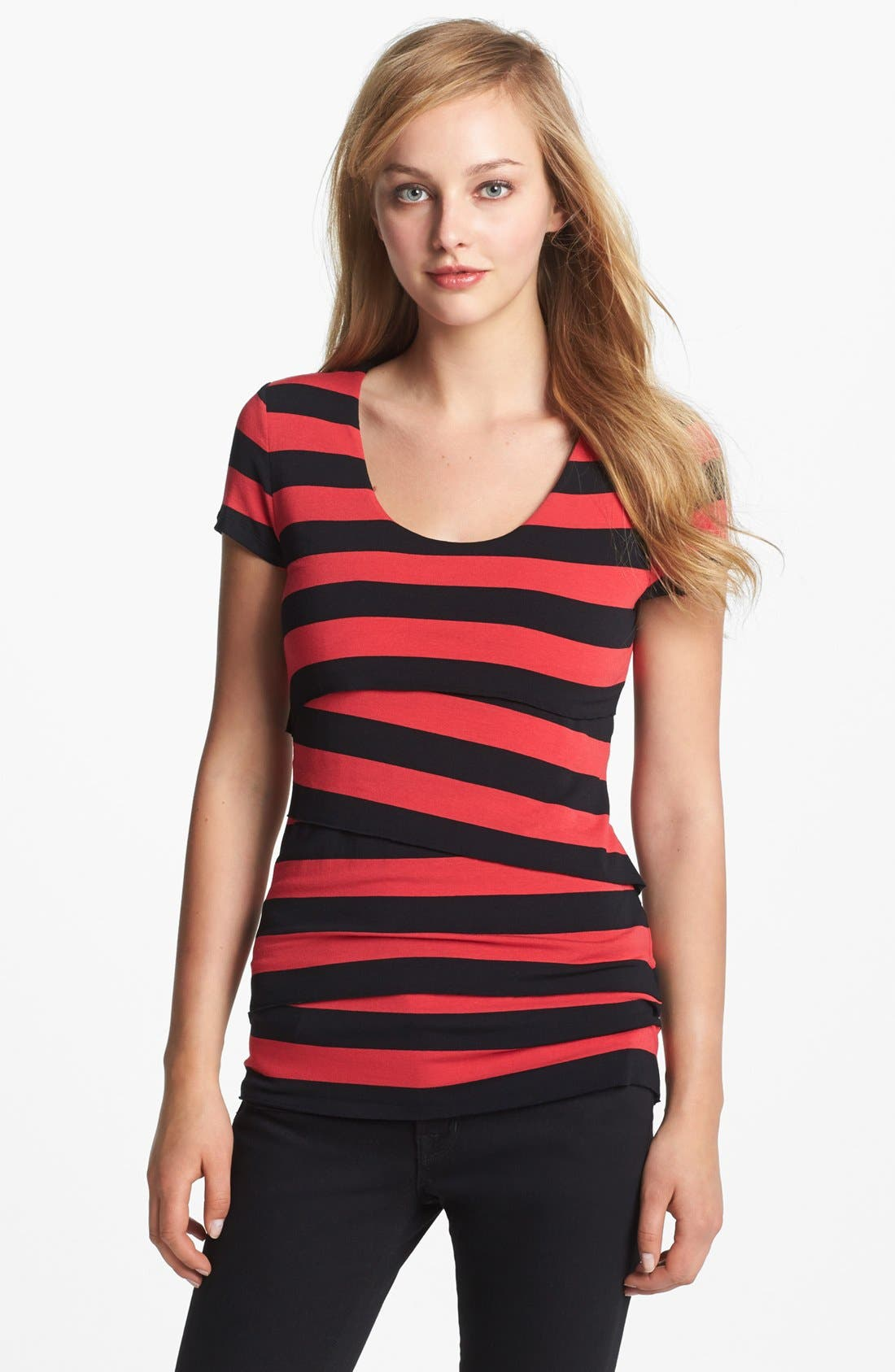 Alternate Image 1 Selected - Vince Camuto Stripe Bandage Top