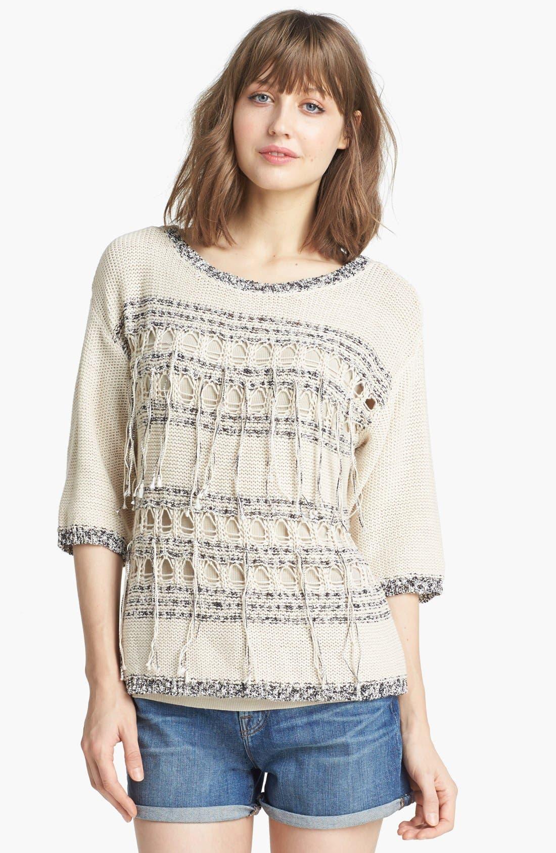 Alternate Image 1  - Trouvé Fringe Trim Sweater