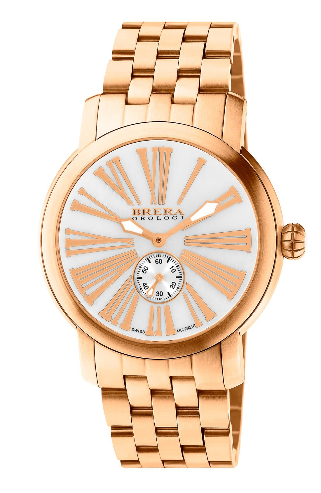 Main Image - Brera 'Valentina' Round Bracelet Watch, 42mm