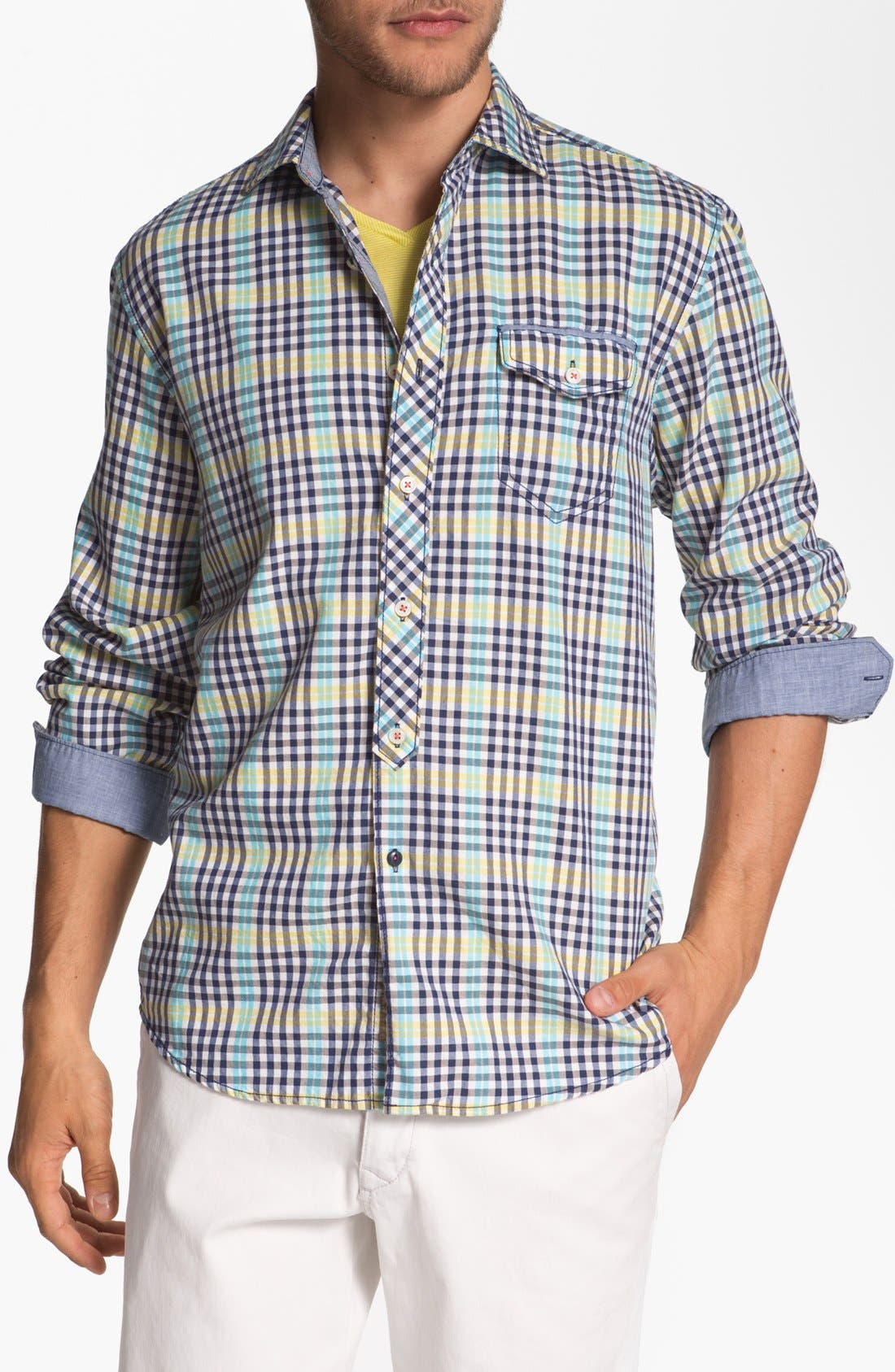 Alternate Image 1 Selected - Tommy Bahama Denim 'Ole Oxford' Regular Fit Sport Shirt
