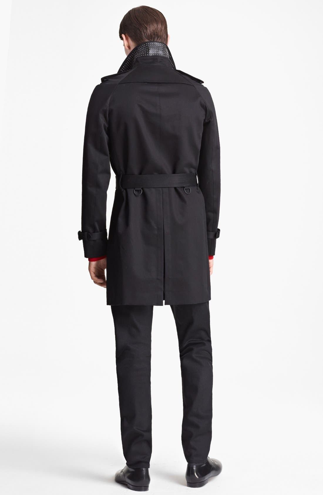 Alternate Image 4  - Burberry Prorsum Double Breasted Trench Coat