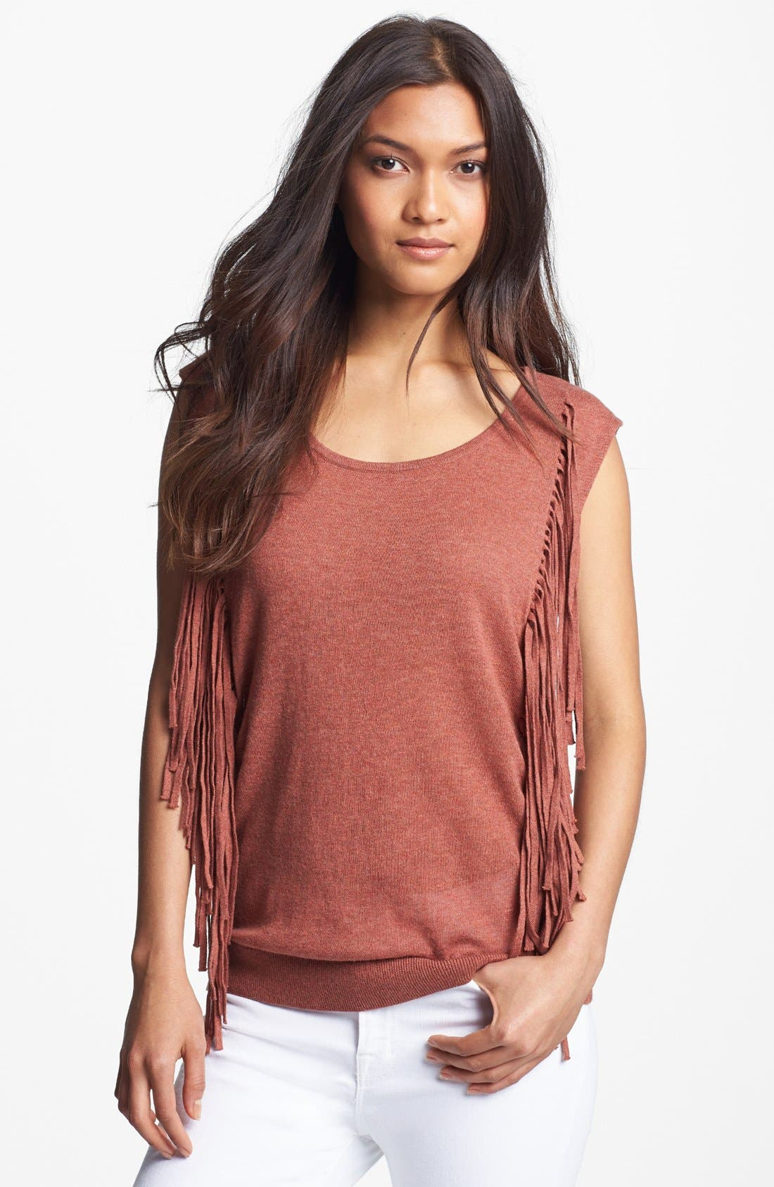Alternate Image 1  - Trouvé Fringe Trim Sweater