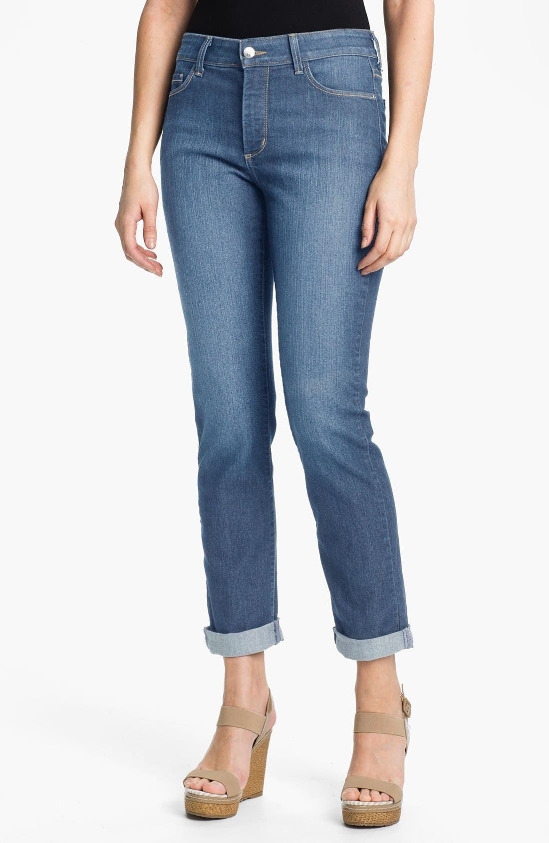 Alternate Image 1 Selected - NYDJ 'Tanya' Stretch Boyfriend Jeans (Modesto) (Plus Size)