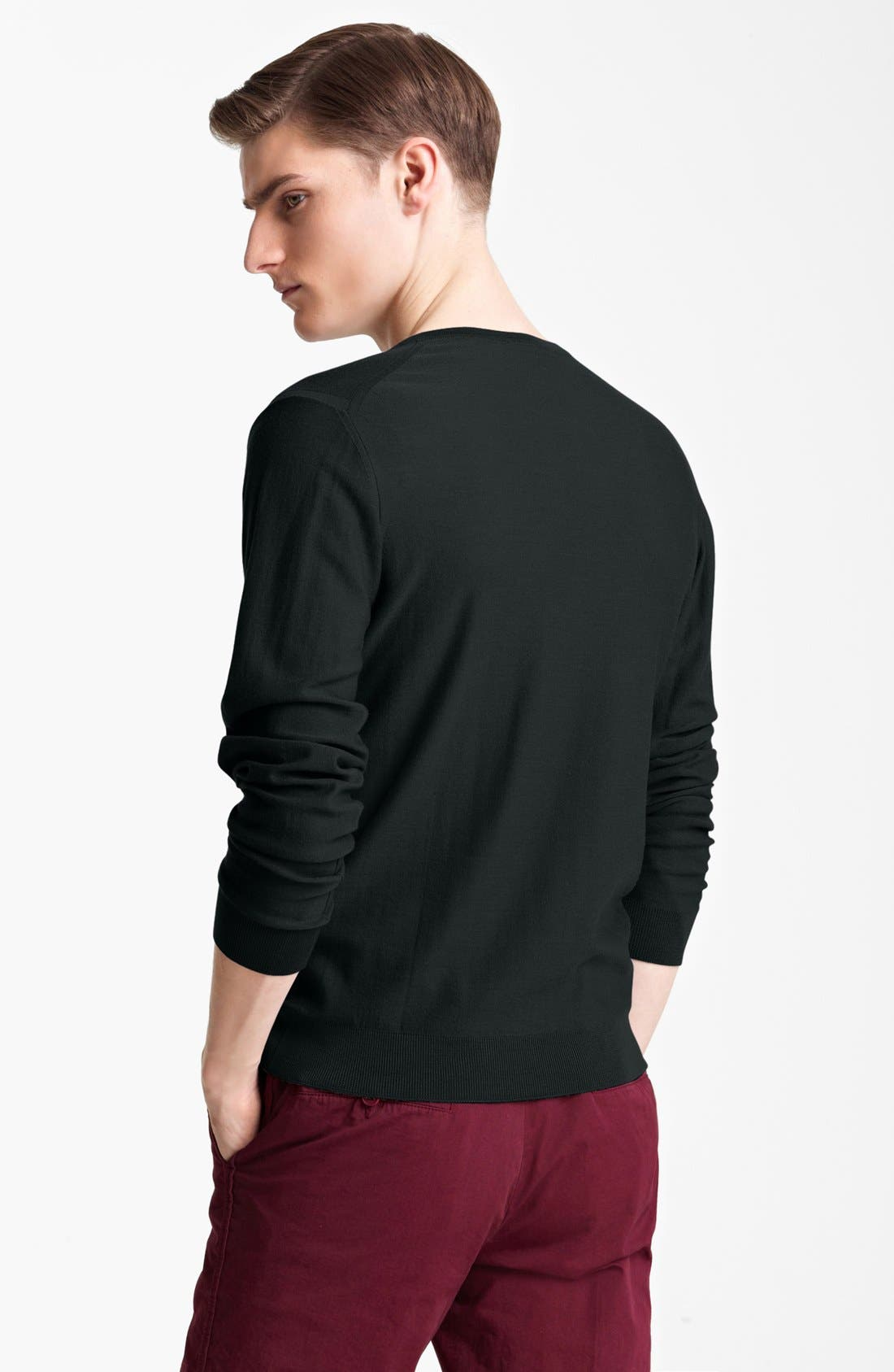 Alternate Image 2  - Lanvin Merino Wool V-Neck Sweater