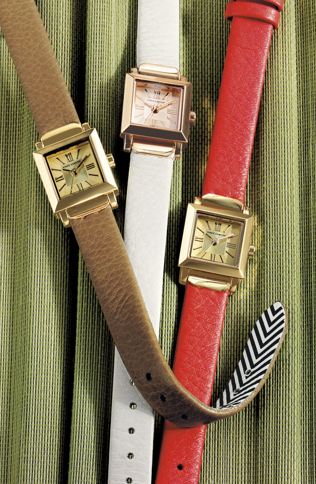 Alternate Image 2  - Vince Camuto Mini Square Case Watch, 19mm