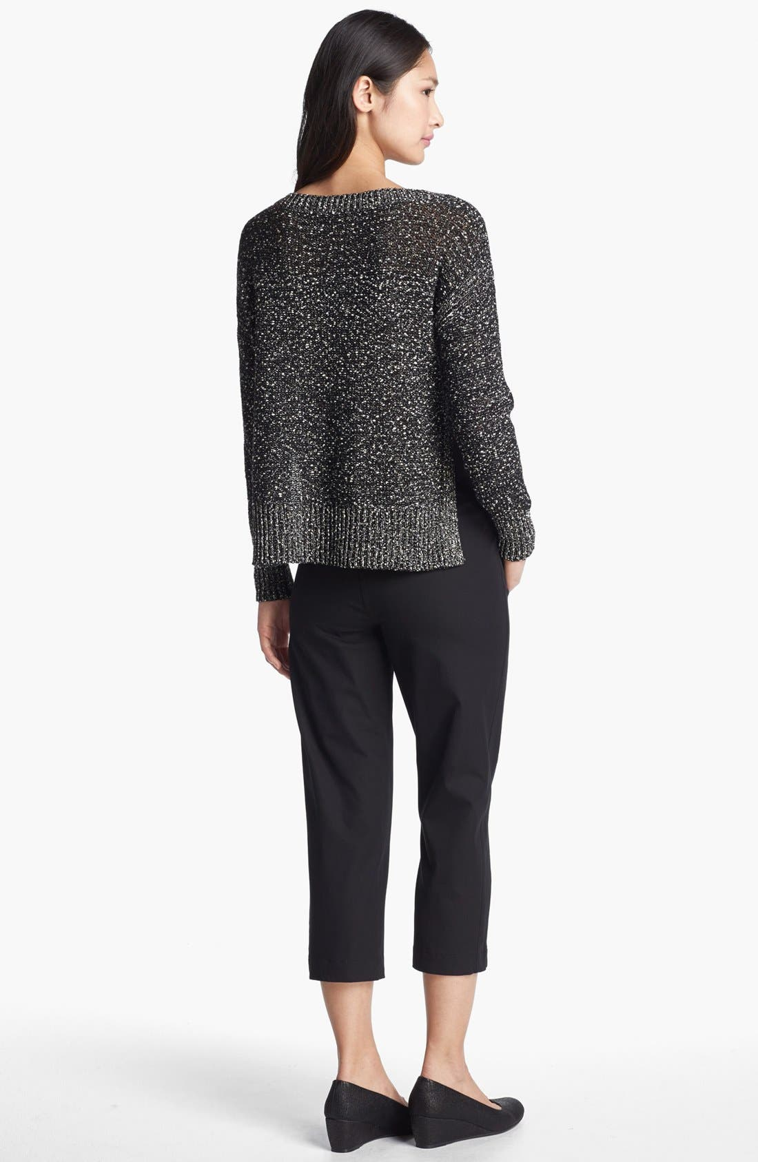 Alternate Image 5  - Eileen Fisher Wrapped Cotton Nubble Sweater