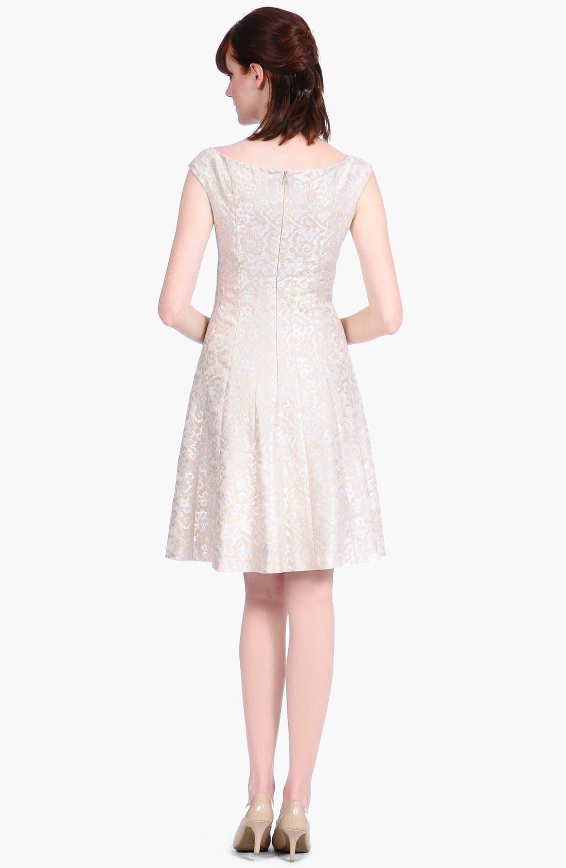Alternate Image 2  - Kay Unger Foiled Brocade Fit & Flare Dress