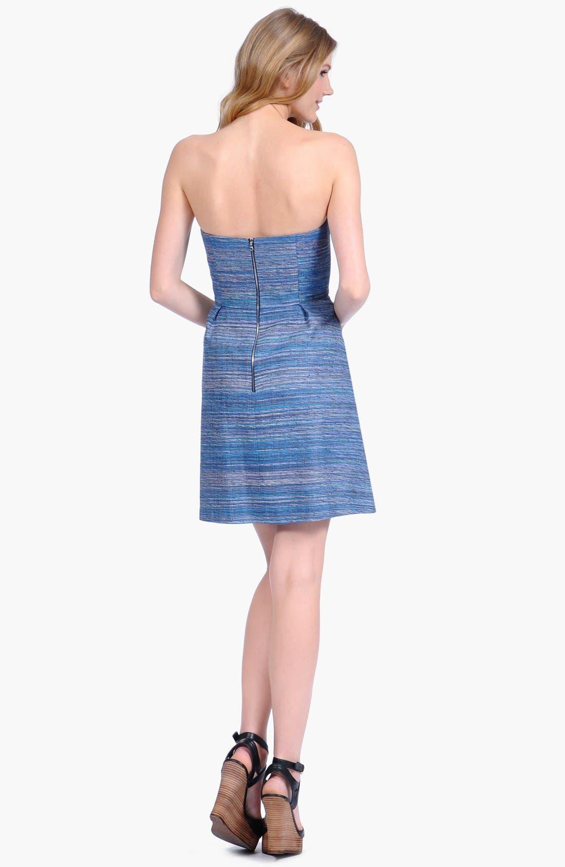 Alternate Image 2  - Phoebe Couture Lace Appliqué Fit & Flare Dress