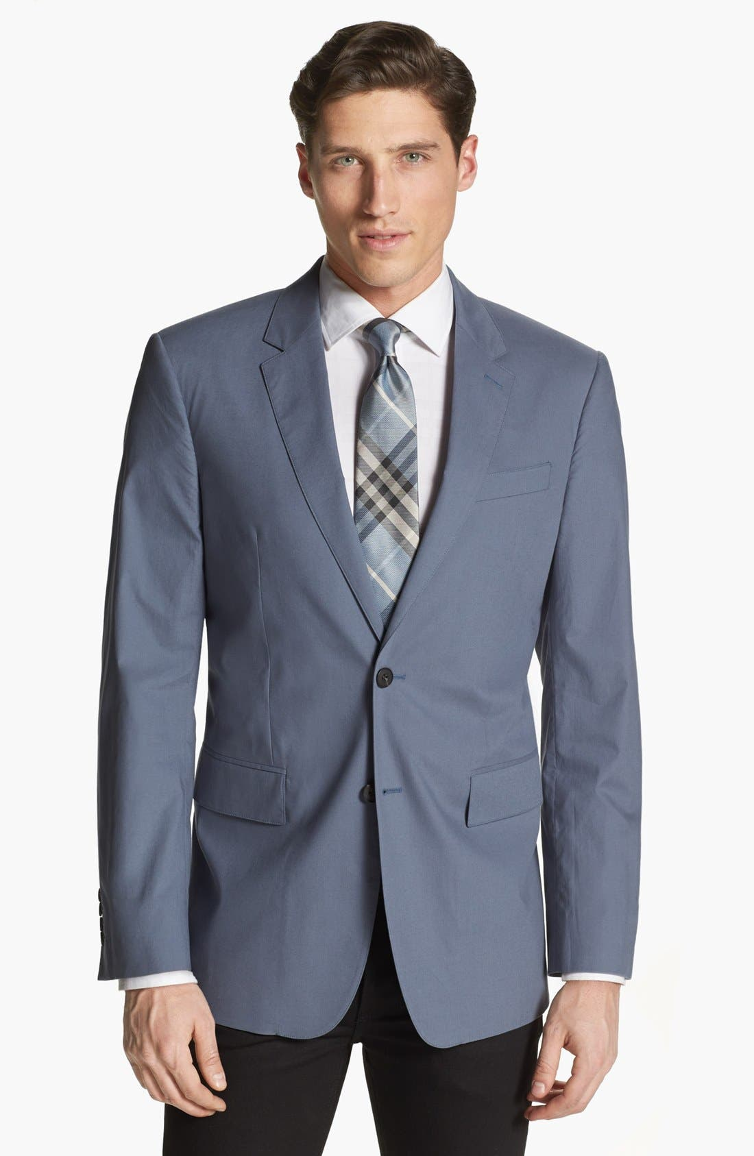 Alternate Image 1 Selected - Burberry London Trim Fit Cotton Sportcoat