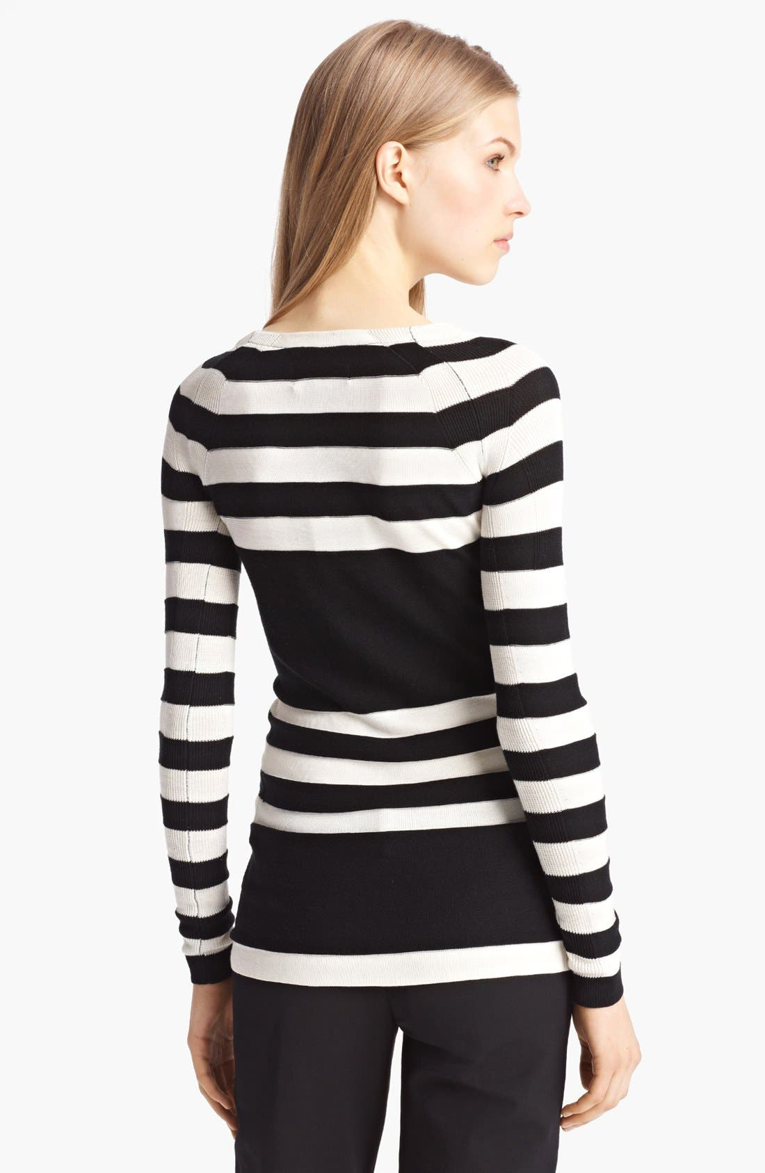 Alternate Image 2  - Burberry London Stripe Silk Blend Sweater