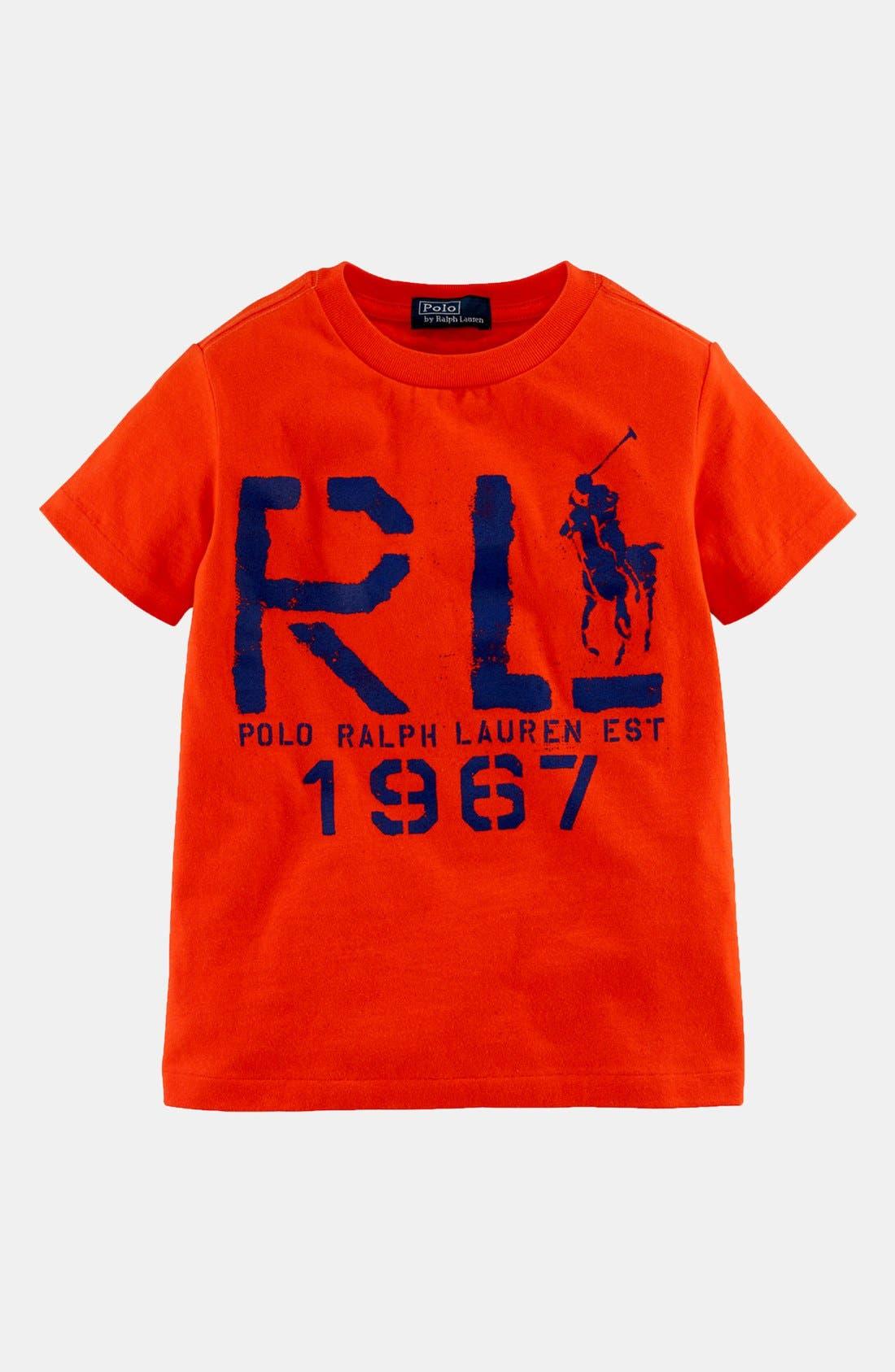 Main Image - Ralph Lauren Logo T-Shirt (Toddler Boys)