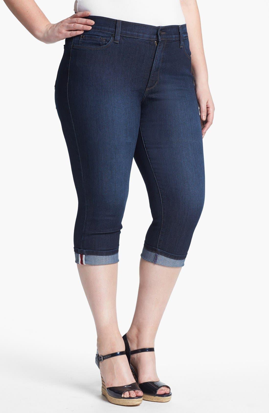 Alternate Image 1 Selected - NYDJ 'Edna' Cuff Crop Jeans (Plus Size)