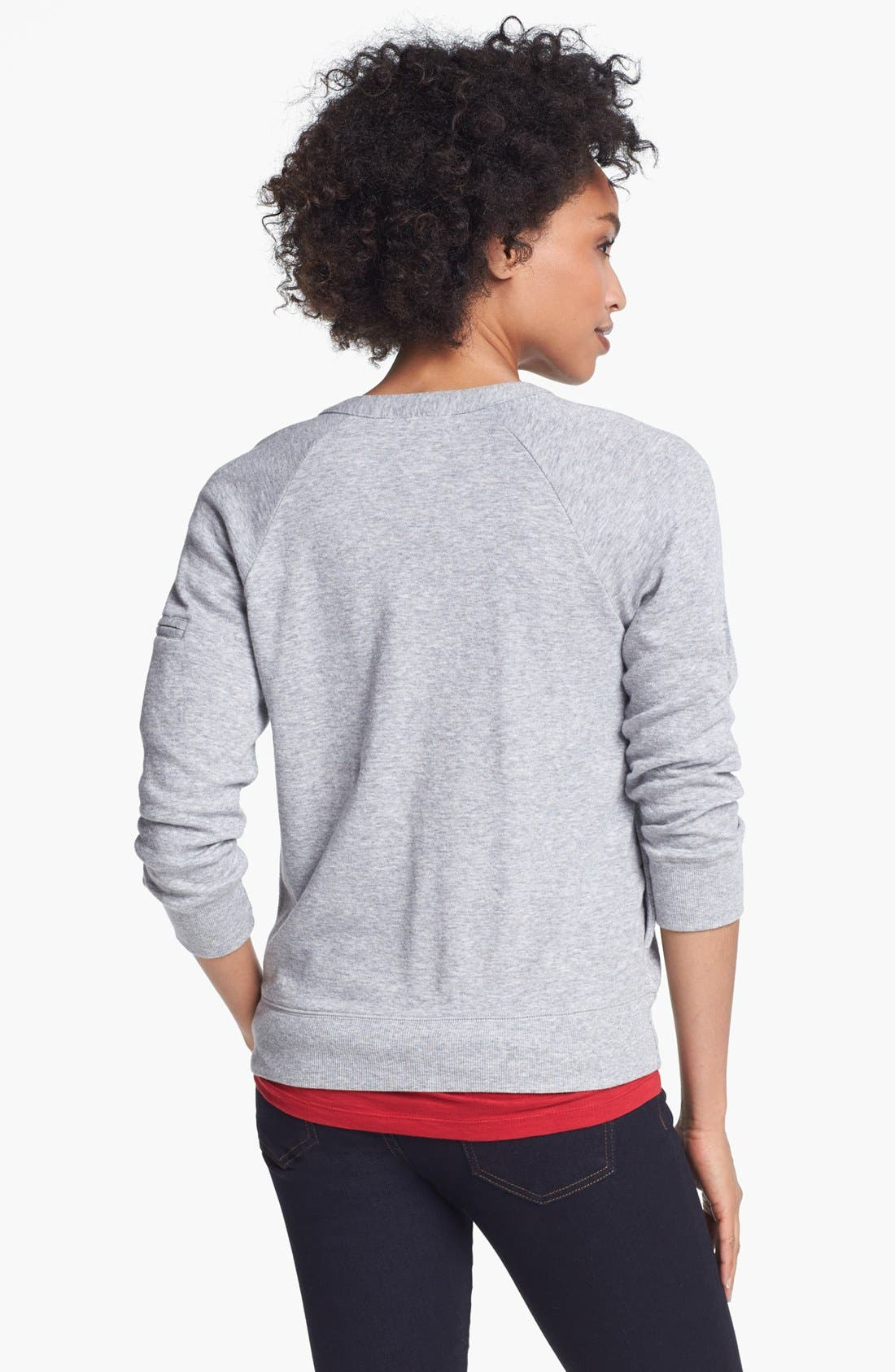 Alternate Image 2  - Halogen® Front Zip Knit Jacket