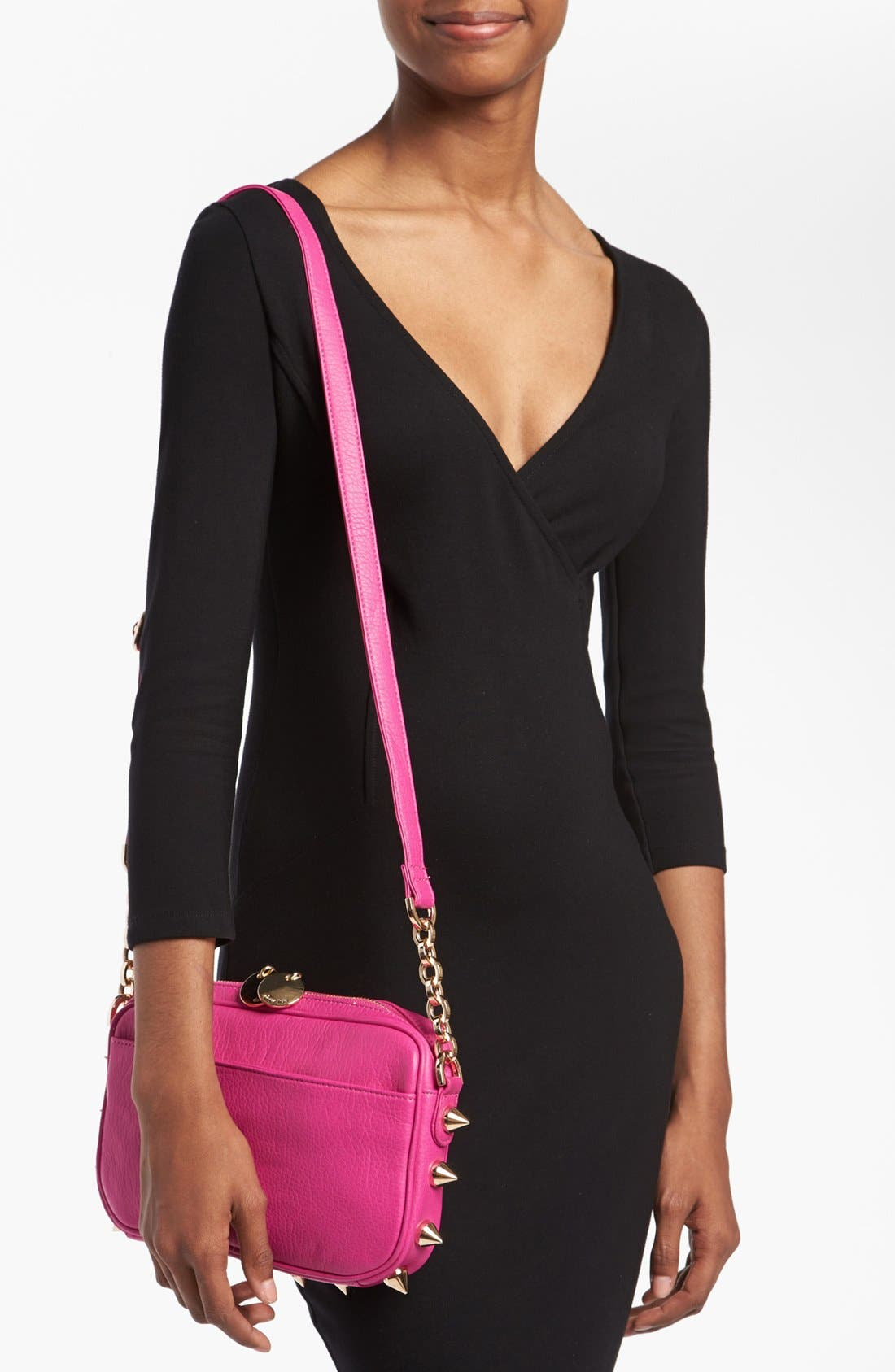 Alternate Image 2  - Deux Lux 'Empire State' Faux Leather Crossbody Bag
