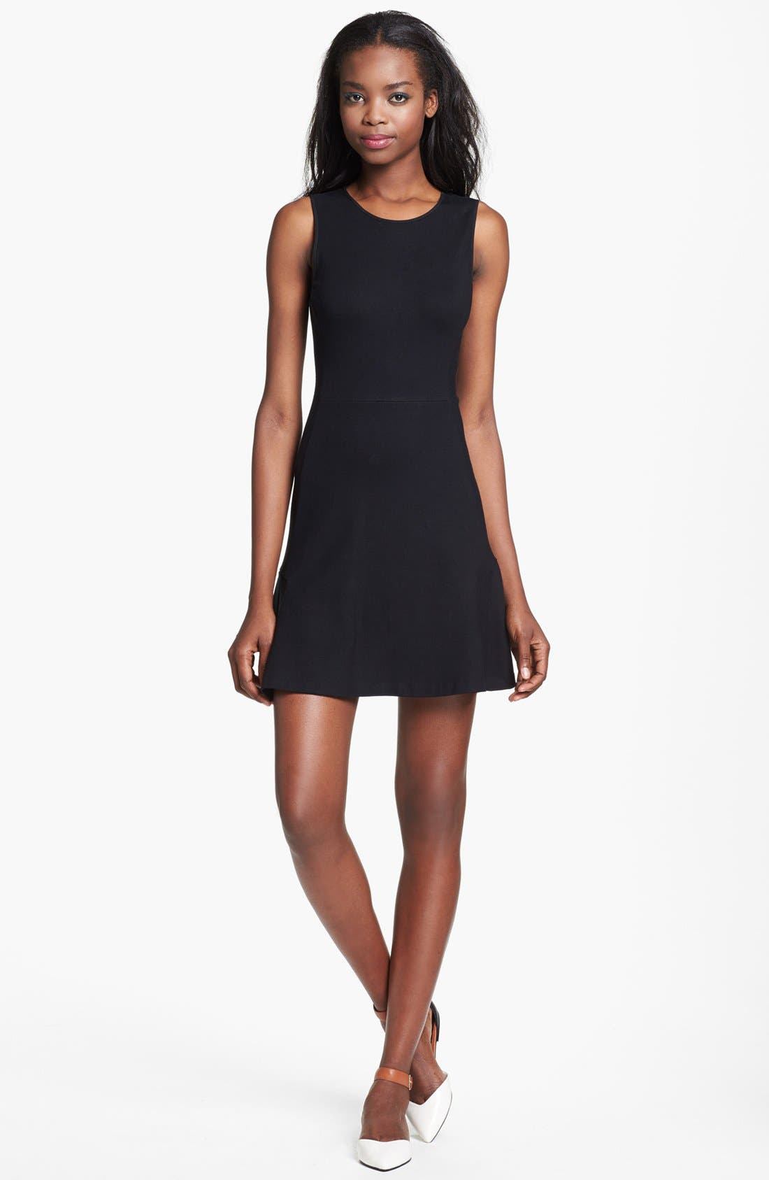 Alternate Image 1 Selected - Theory 'Nikay' Stretch A-Line Dress