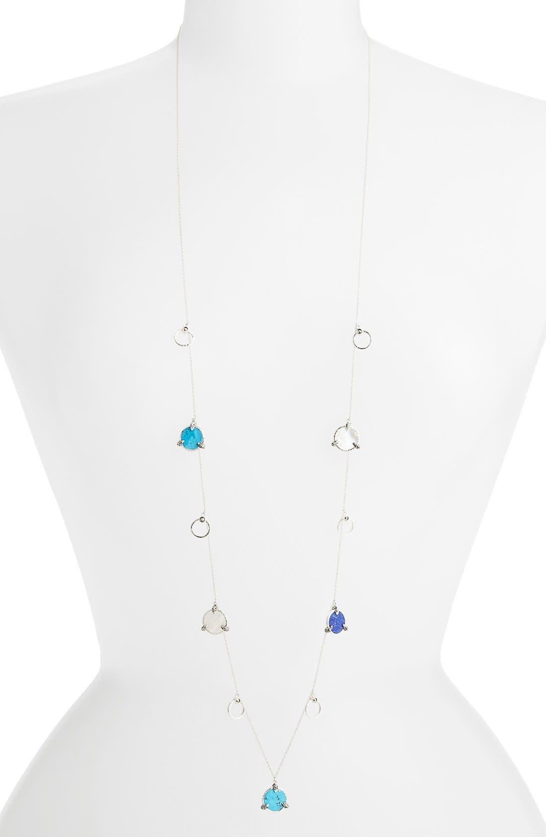 Main Image - Judith Jack 'Coin' Extra Long Charm Station Necklace