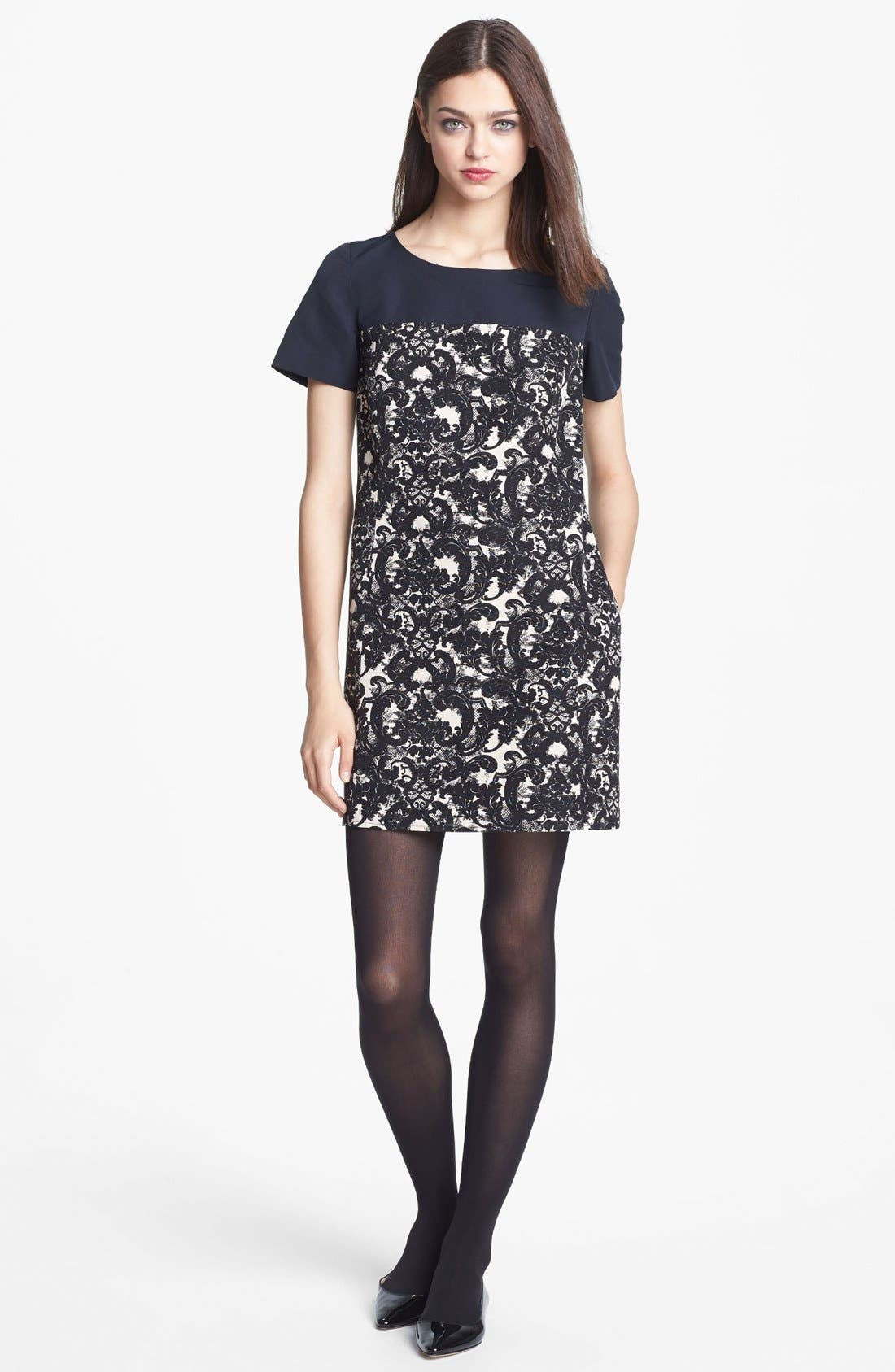 Alternate Image 1 Selected - Miss Wu 'Vera' Lace Print Colorblock Dress (Nordstrom Exclusive)