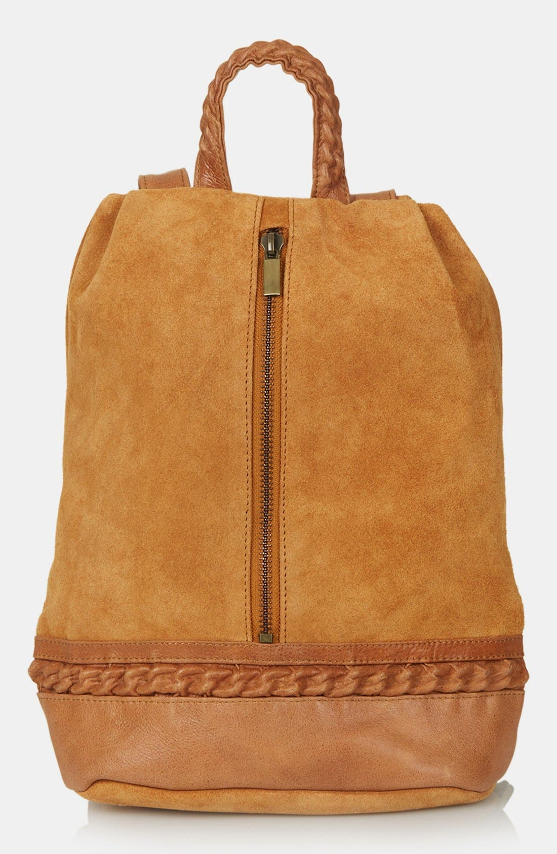 Main Image - Topshop Suede Zip Backpack