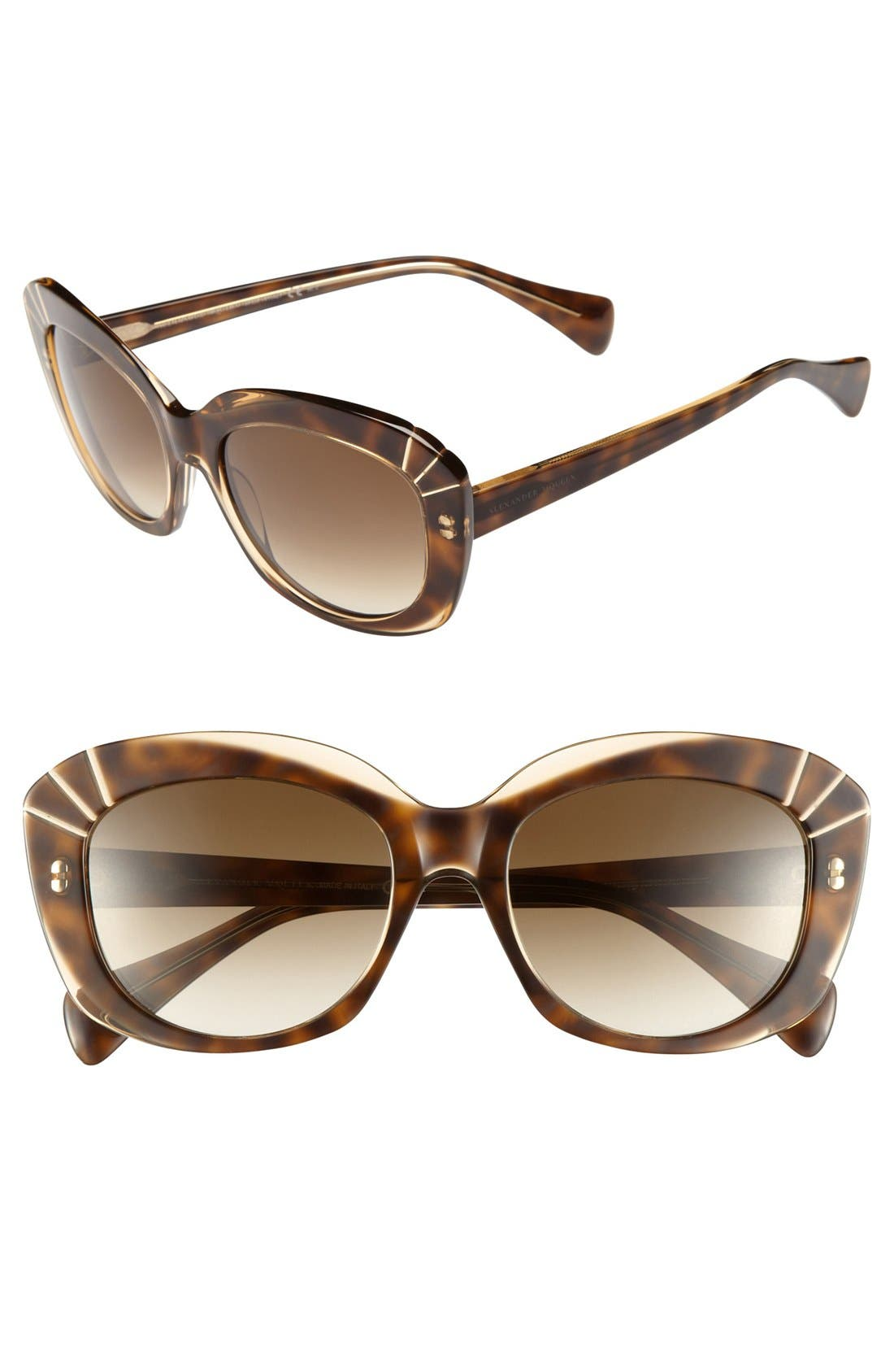 Main Image - Alexander McQueen 54mm Starburst Inset Sunglasses