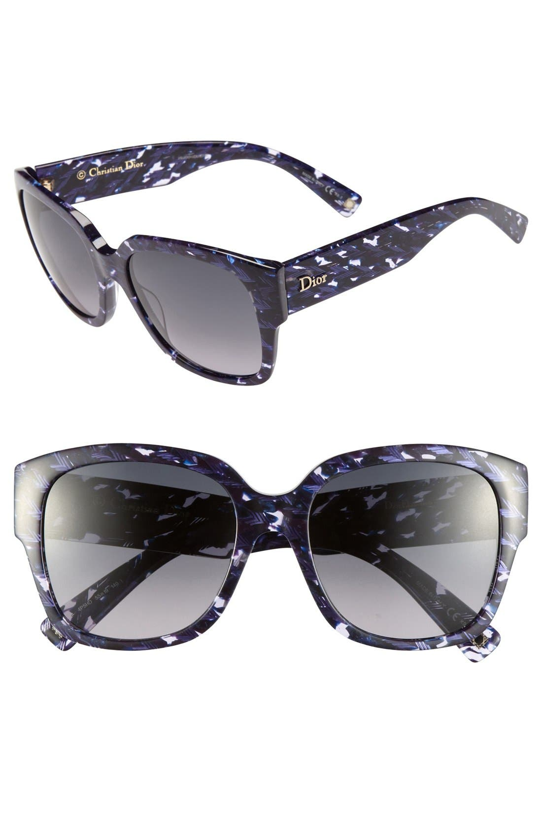 Alternate Image 1 Selected - Dior 'Flanelle' 55mm Sunglasses