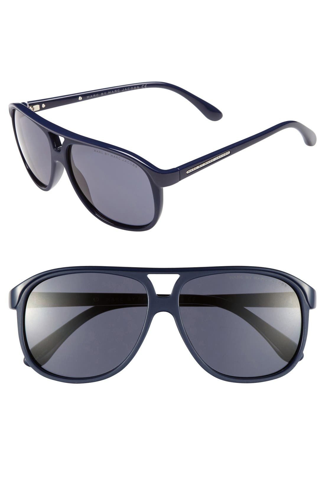 Main Image - MARC BY MARC JACOBS 59mm Navigator Sunglasses